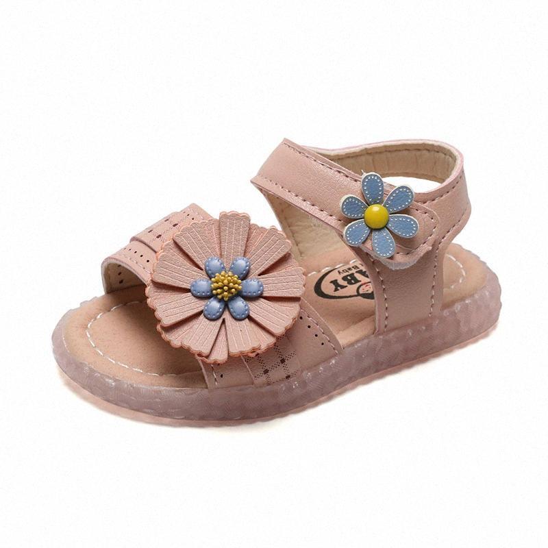 COZULLAA 2020 bambini del bambino inferiore molle dei sandali delle neonate Elegante Fiori sandali della spiaggia di estate dei capretti la principessa calza il formato 15 25 Baby Sh pSxK #