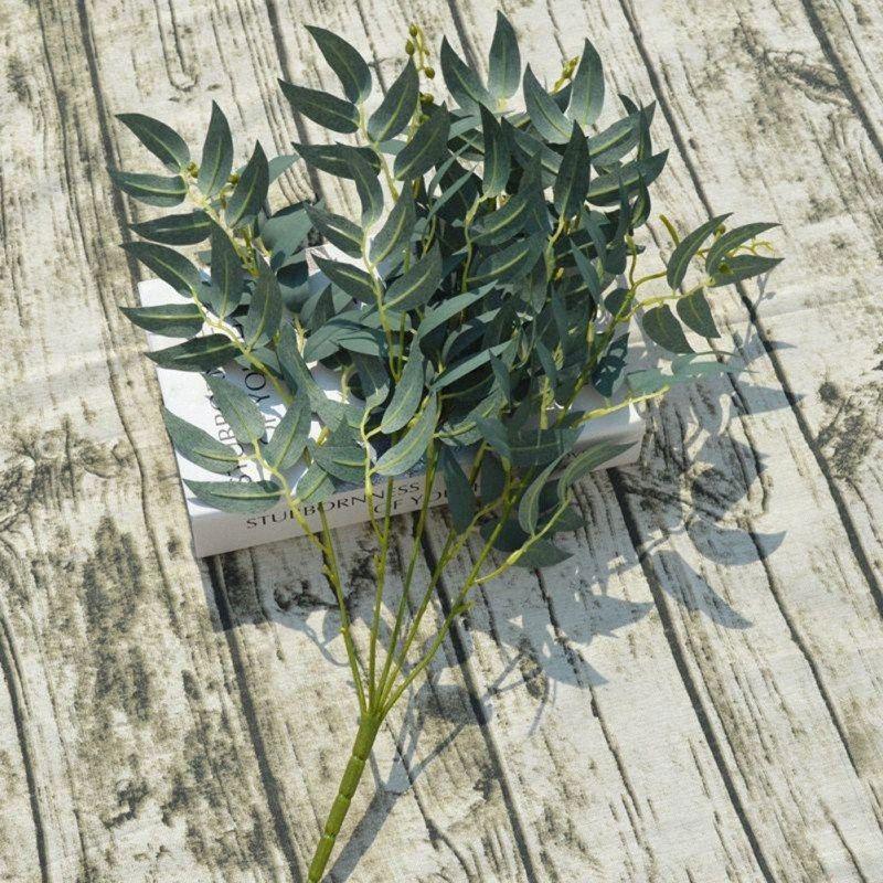 Willow Bar Моделирование Green Посадки Свадьба Дорога Willow Grass Украшение сад Главного праздничные для вечеринок Искусственных растений 2oXI #