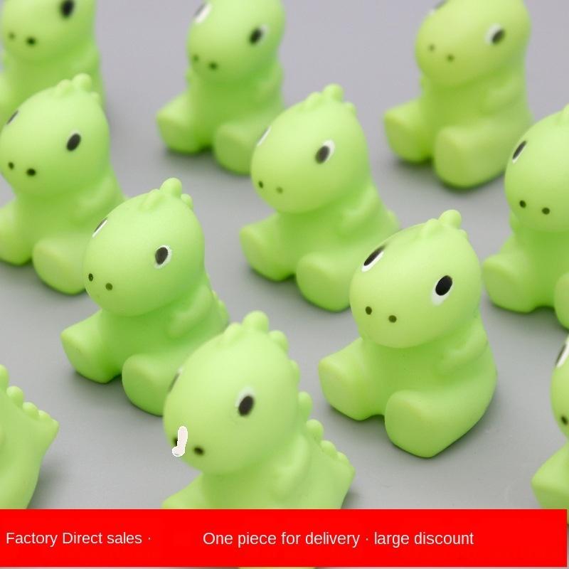 Kleine Dinosaurier Spielzeug Prise Musik Vinyl Spielzeug Entlüftungs Dekompression Internet Berühmtheit Stimme ganze Person Prise Push