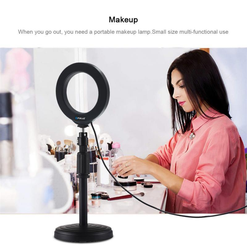 Fábrica de 4,7 polegadas 12 centímetros LED selfie Luz Anel Com Tripé Estúdio Fotografia Foto Anel luz de preenchimento com tripé Para Smartphone Marca