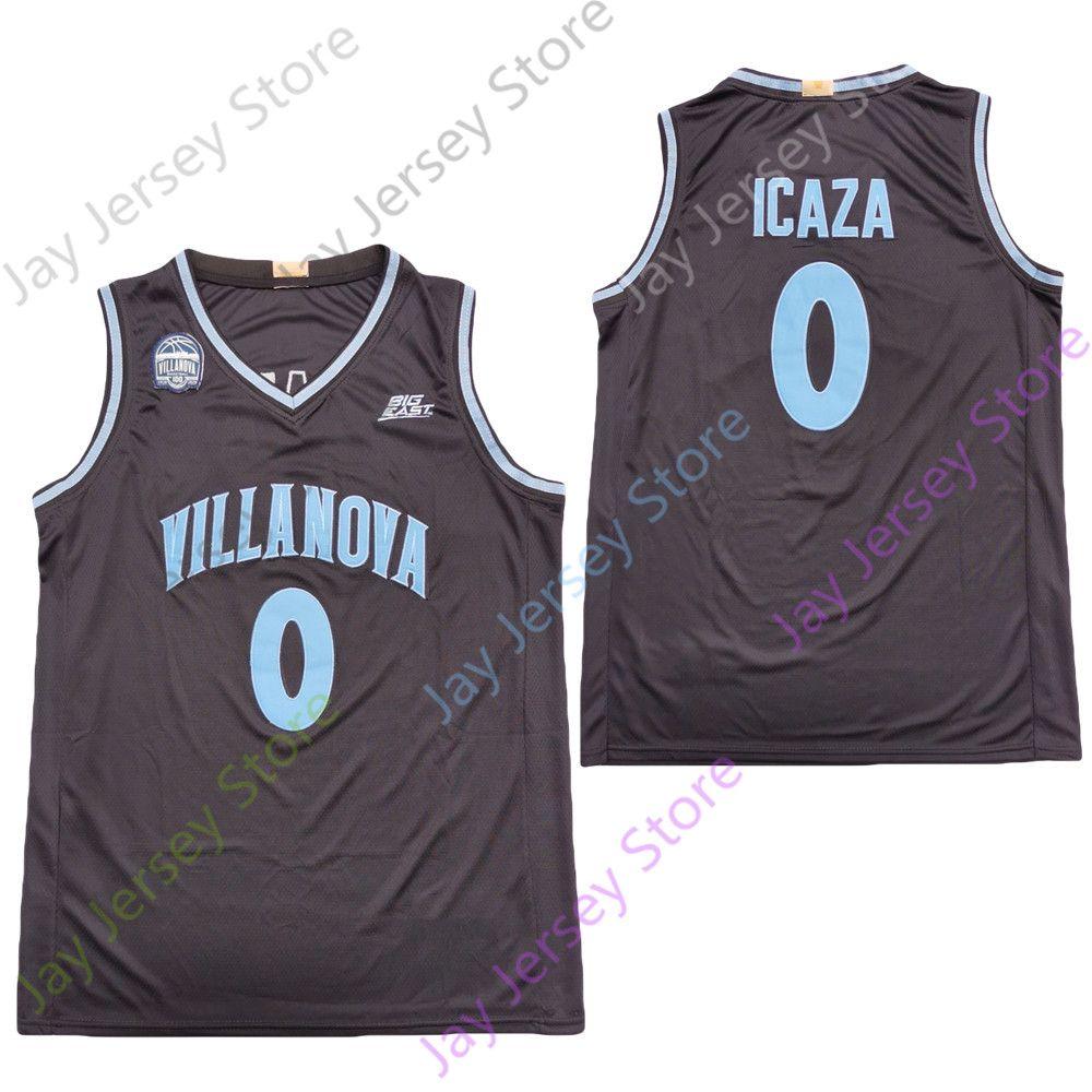 2020 Yeni NCAA Villanova Wildcats Formalar 0 Icaza Koleji Basketbol Jersey Siyah Boyut Gençlik Yetişkin Tüm Dikişli