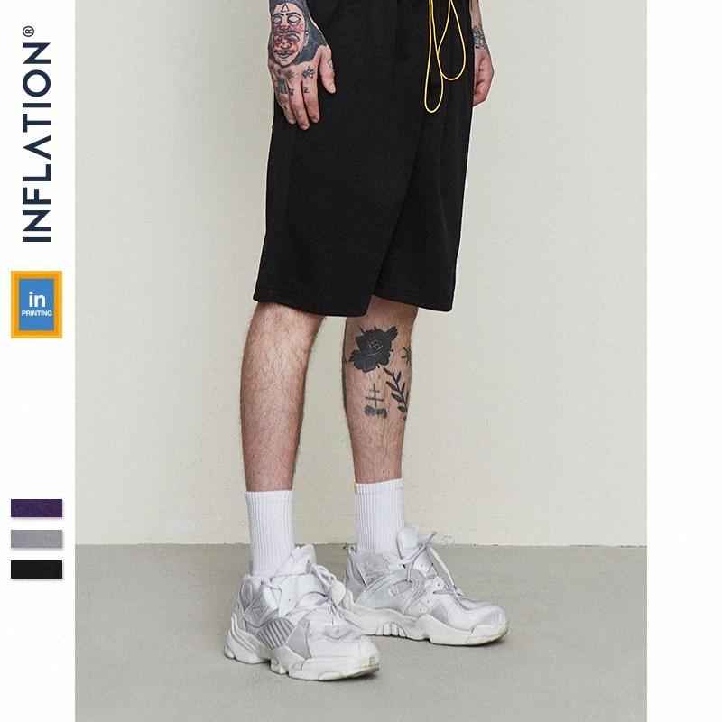 INFLACION 2020 hombres de la moda de Hip Hop hombres de los cortocircuitos del verano elástico de la cintura Pantalones cortos hasta la rodilla 9360S 9TVR #