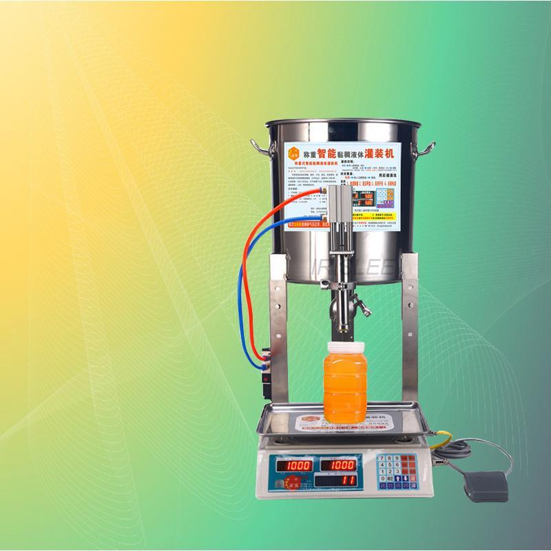 sıcak satış yeni paslanmaz çelik ticari viskoz sıvı kantitatif dolum makinesi bal peynir yoğurt dolum makinası 240V
