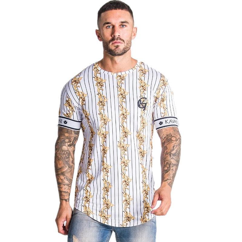 2020 새로운 캐주얼 망 디자이너 티셔츠 스트라이프 여름 남성 T 셔츠 패션 탑스 스트리트웨어 남자 셔츠 힙합 브랜드 의류