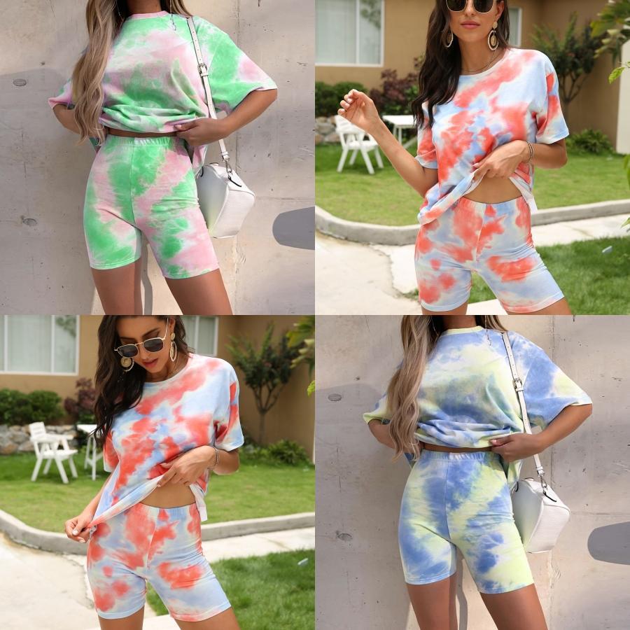 An и американских женщин Tight Sexy сумка Hip Navel Двух- 1Pcs Tie-Dye печати костюм Горячие модели # 126