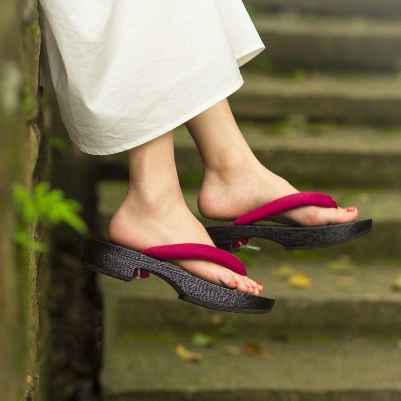Mazefeng Naruto japanischen Anime Cosplay Schuhe Oriental Chinese Japanese Traditional Geta Frau Mann aus Holz Paulownia Slipper