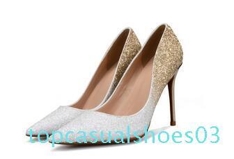 Yeni Moda Lüks Tasarımcı Kadınlar Ayakkabı Gelinlik Yüksek Topuklar 8 ile 10 cm 12cm Nü Siyah Kırmızı Deri Sivri Ayak parmakları Sequins Elbise Ayakkabı t03