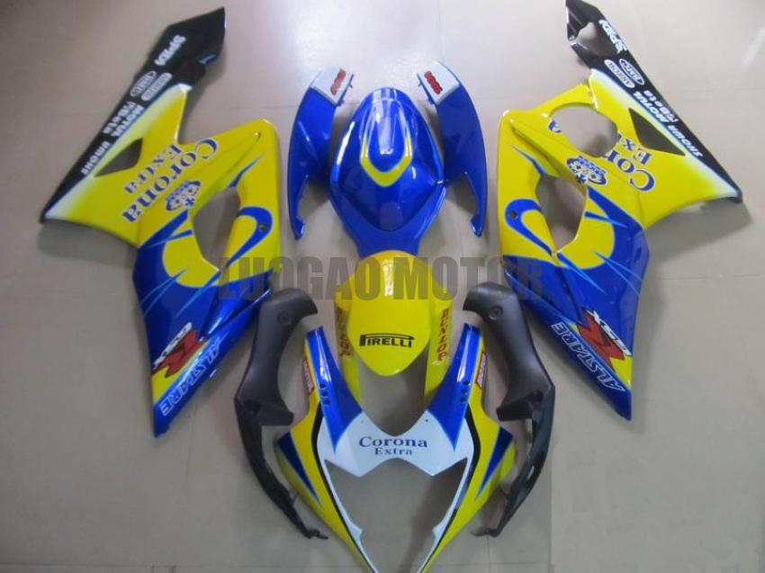 Injection Fairings kit for SUZUKI GSXR1000 GSXR-1000 2005 2006 GSXR 1000 05 06 #Body cover gsxr1000 05-06 tank #Corona #yellow blue