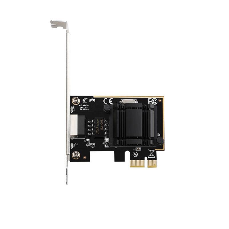 1000Mbps Gigabit Ethernet RJ-45 LAN placa de rede PCI chipset Intel 1210AT 10/100 / 1000Mbps PCIe 1x Gigabit NIC