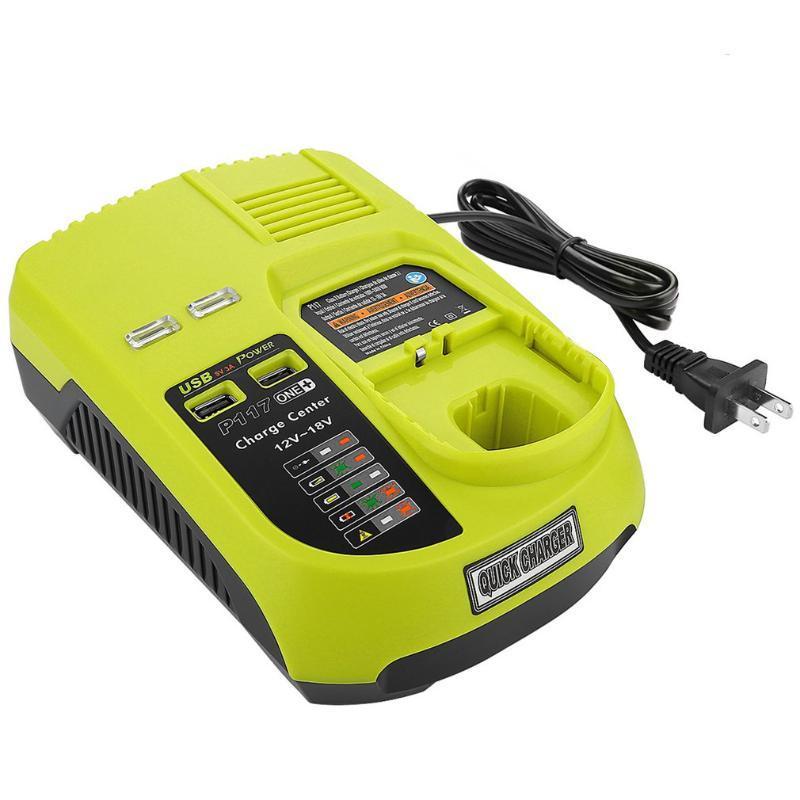 12V-18V Lithium Ion NiCad Ni-CD / Ni-MH Universal Carregador de Bateria recarregável Power Pack ferramenta para Ryobi One + P117 UE / EUA / AU / UK