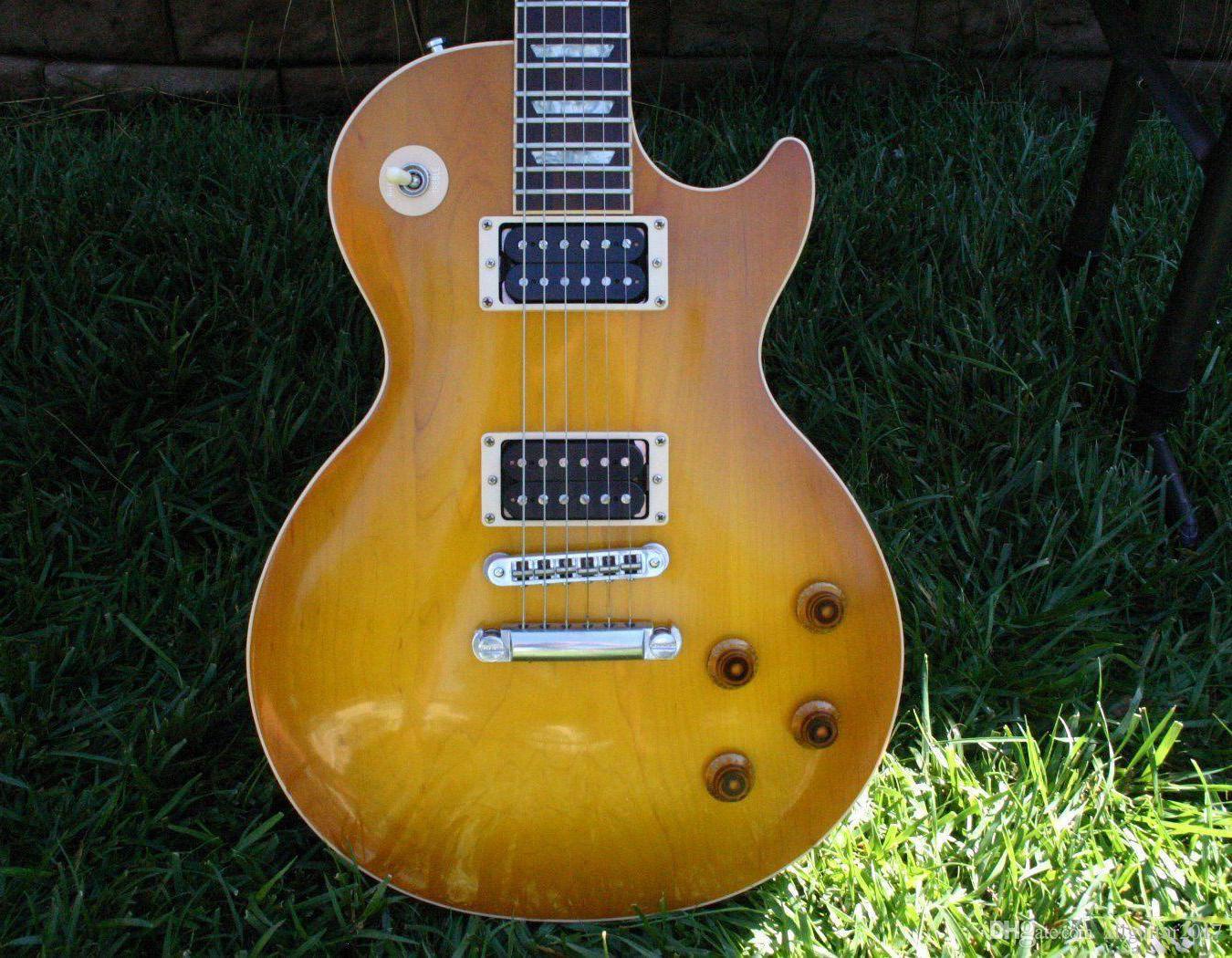 Rare Slash Guitarra Sólida Corpo de Bordo Mel Burst Vos Chinês Guitarra Elétrica China Guitarras