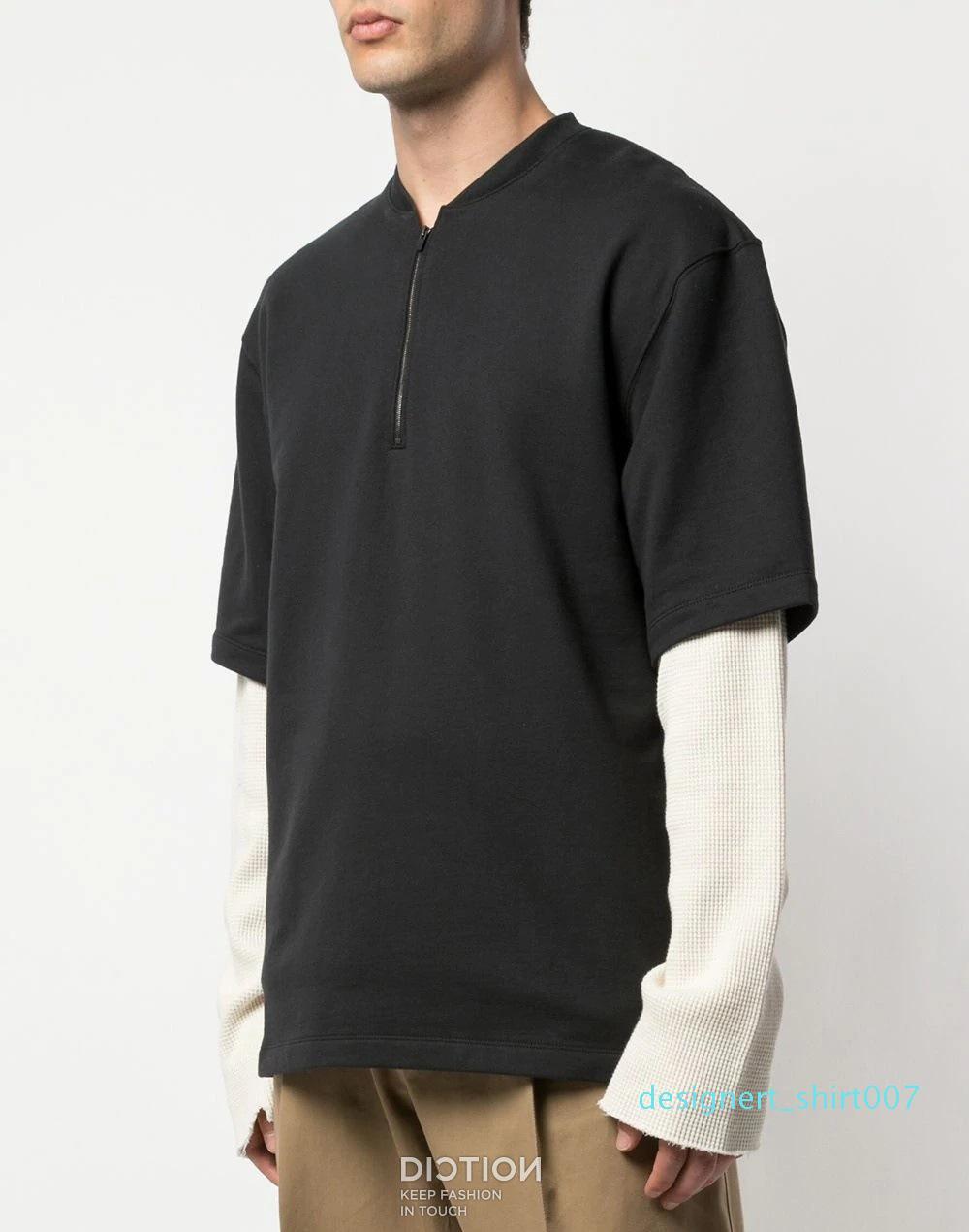 FOG crainte de Dieu T-shirt Patch High Street style hommes et femmes d'été à manches courtes T-shirt 25204d07