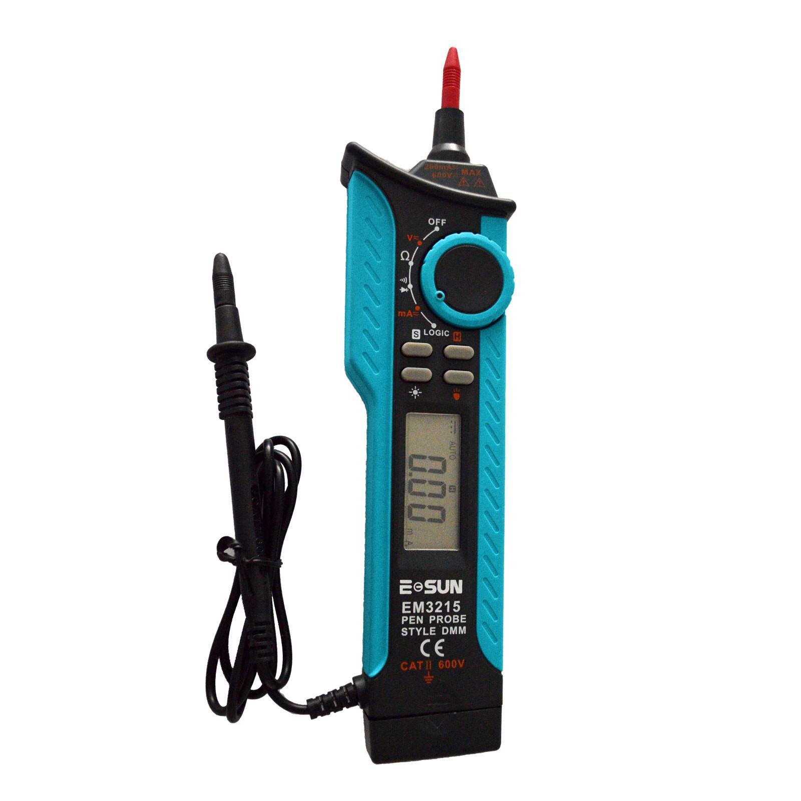 디지털 멀티 미터 CAT II 250V DMM 펜 타입 최대 자동 범위 TTL 로직 레벨 미터 민감한 전기 시험의 모든 일 EM3215