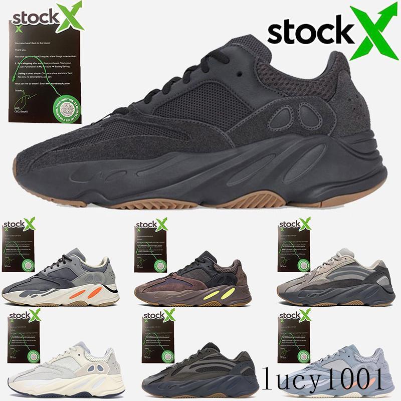 Kanye West 700 Wave Runner кроссовки для женщин людей 700S V2 Статическая Спорт Кроссовки Сиреневые Solid Gray Luxury Дизайнерская обувь Размер 36-46 GT