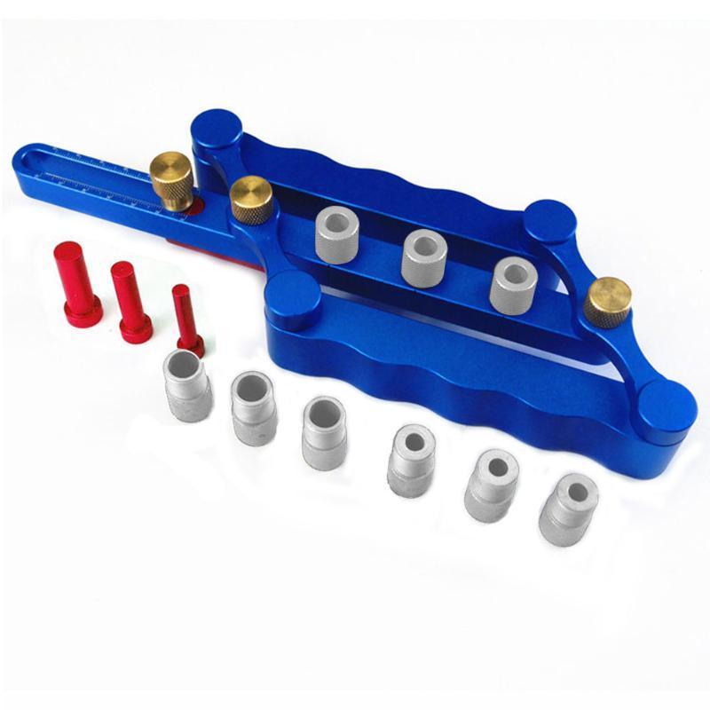 Lega di alluminio preciso Locator lavorazione del legno strumento di auto centraggio spinatura maschera di foratura Punzonatrice Con Scala