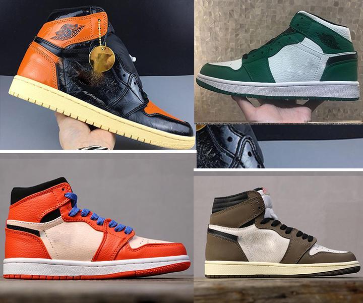 2020 zapatos del tablero trasero de baloncesto 1 OG zapatillas deportivas para hombre de las zapatillas de deporte de lujo de alta calidad de la moda las mujeres unisex Chicago altos Zapatos de la zapatilla