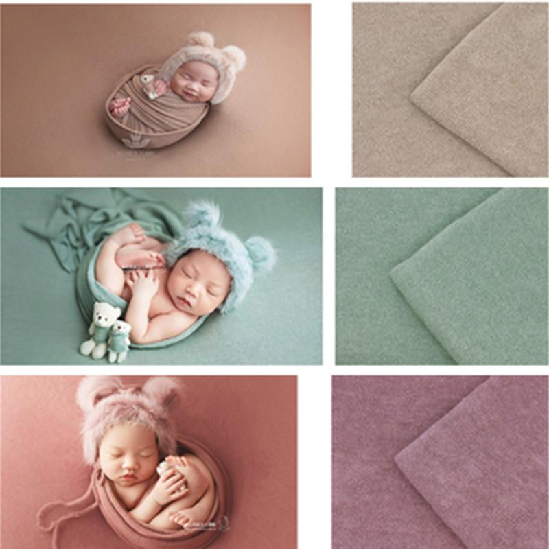 40 140*170cm Newborn Photography Props Baby Wraps Photograph Studio Blanket Backdrop Knitted Fabric Photo Shooting Accessories
