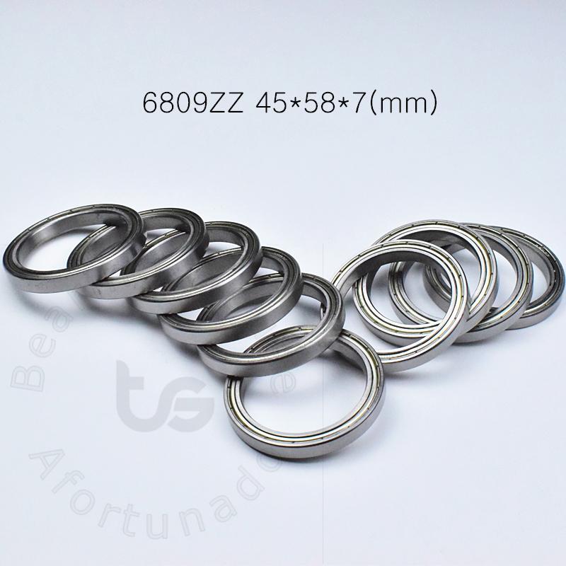 6809ZZ rulman Metal 6809 6809ZZ 45 * 58 * 7 mm krom çelik derin oluk rulman ücretsiz nakliye taşıyan İnce duvar mühürlü