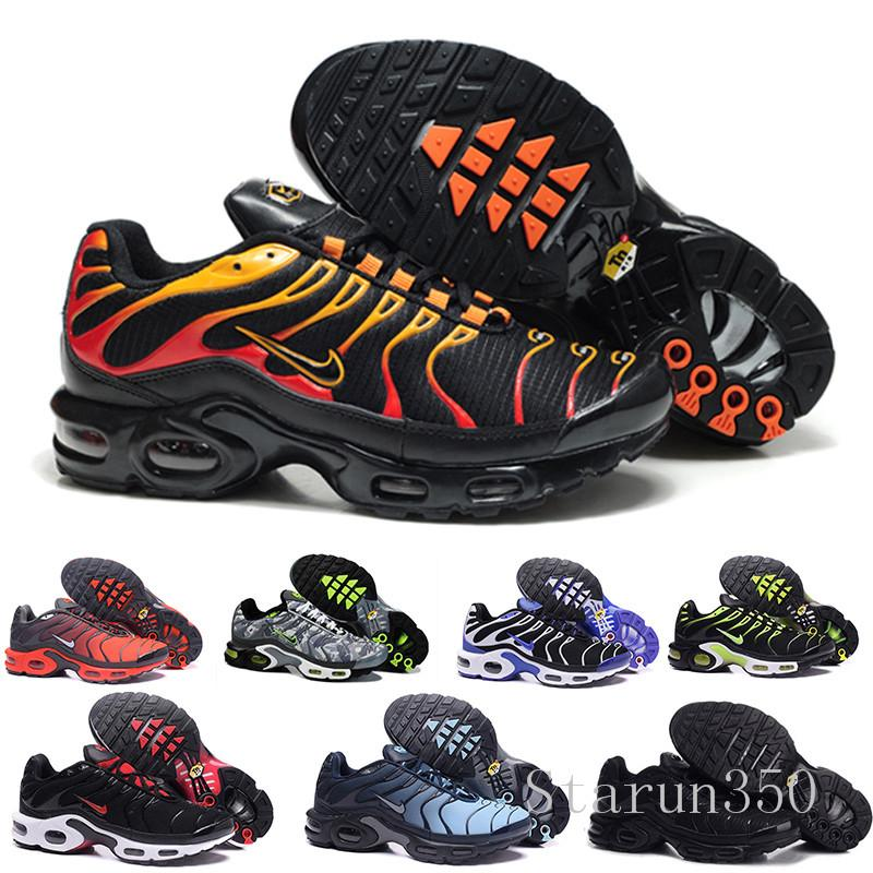 2019 New Running Shoes Men TN Shoes tns plus Fashion Increased Ventilation Casual Trainers Olive red blue black Sneakers Chausseures HIL-7