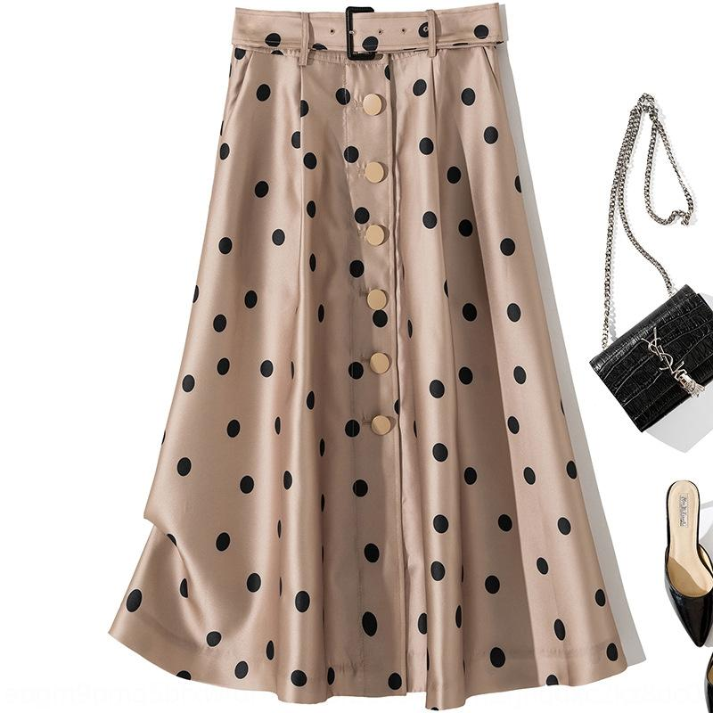 B1294 2020 new fashion high-waisted waist lace-up thin and dress atmospheric women's dress skirt