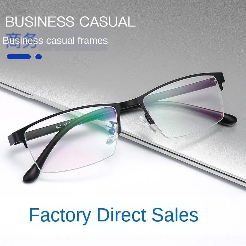 Nueva miopía de acero del metal del negocio gafas ocasional ligero marco de los vidrios de la miopía del marco de los hombres ultra-8sqPW