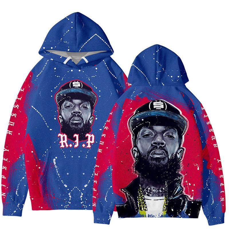 Nipsey Hussle XXXTENTACI Hoodie Hip Hop Zipper Sweatshirt Fashion Stylist Jacket Casual Hoodie Jacket Size S-4XL