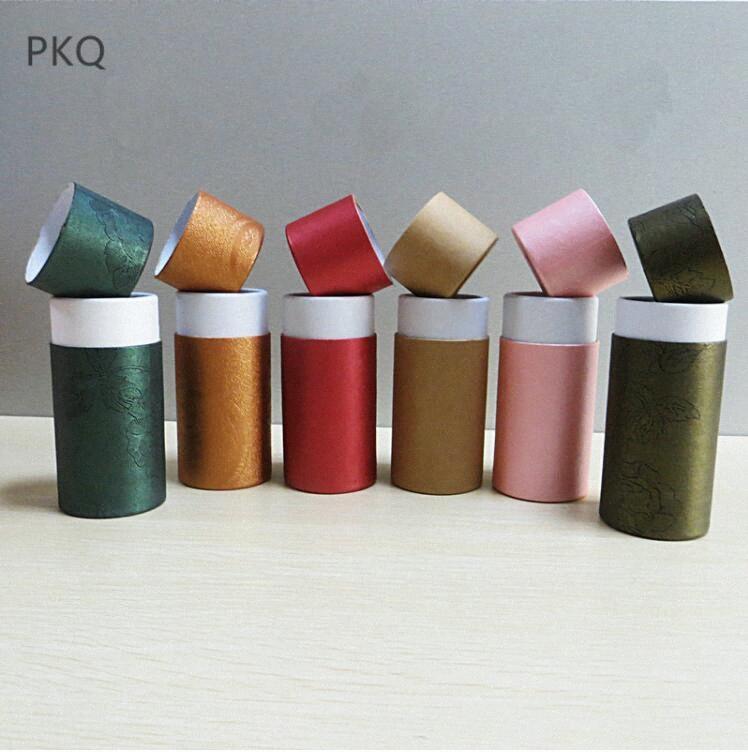 Kutu Noel W pKha # Packaging 10/20/30/50 / 100ml Kraft Kağıt Tüp Karton Kavanoz Hediye / Takı / Kozmetik / Sıvı Şişe / Esansiyel Yağı Şişeleri