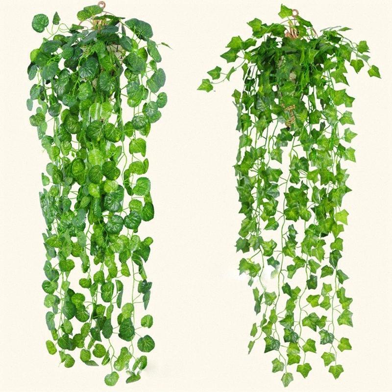Искусственный Ivy декор стены украшения комнаты Поддельные растения Vine Rattan Свадебный пункт Крытый Artificiales завод Сад 90см DKR2 #