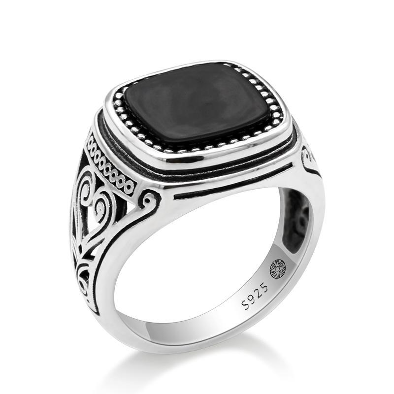 Ups free express shipping. Unique men ring Natural Tiger Eye Gemstone Handmade Silver Men Rings
