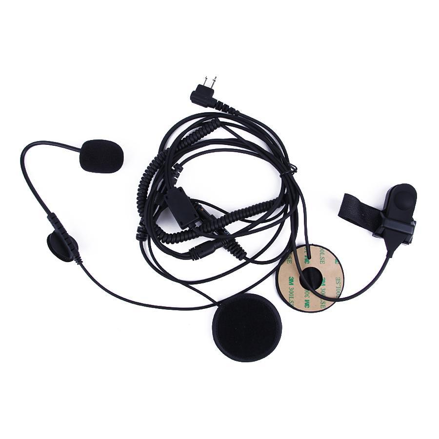 Open/Half Face Motorcycle Bike Helmet Earpiece Headset Mic Microphone For Motorola Two Way Radio Walkie Talkie 2pin CP100, GP88S