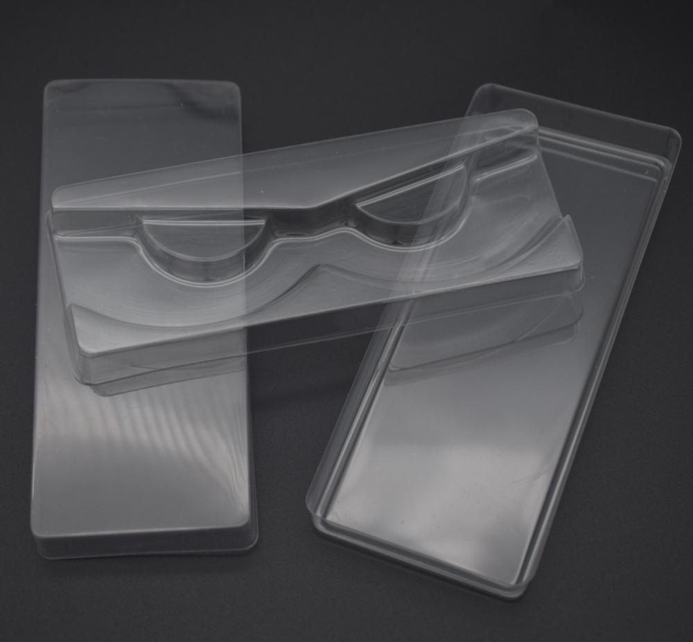 3pcs / set transparente cílios Embalagens plásticas Box Falso pestana Bandeja de capas de armazenamento único caso com 2 tampa transparente 1 Limpar Bandeja