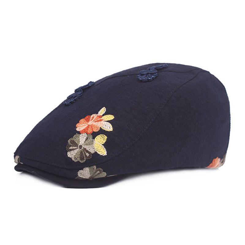 Flor Sombrero de encaje señoras de Baotou sombrero del verano del sombrero de Sun Mujer Luna Caps Caps Nacional de viento