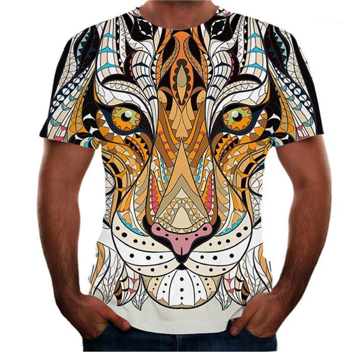 O Ansatz beiläufige Art und Weise der Männer Designer-T-Shirts Tiger-Tierdruck-Männer-T-Shirts Sommer-Kurzschluss-Hülsen-Street