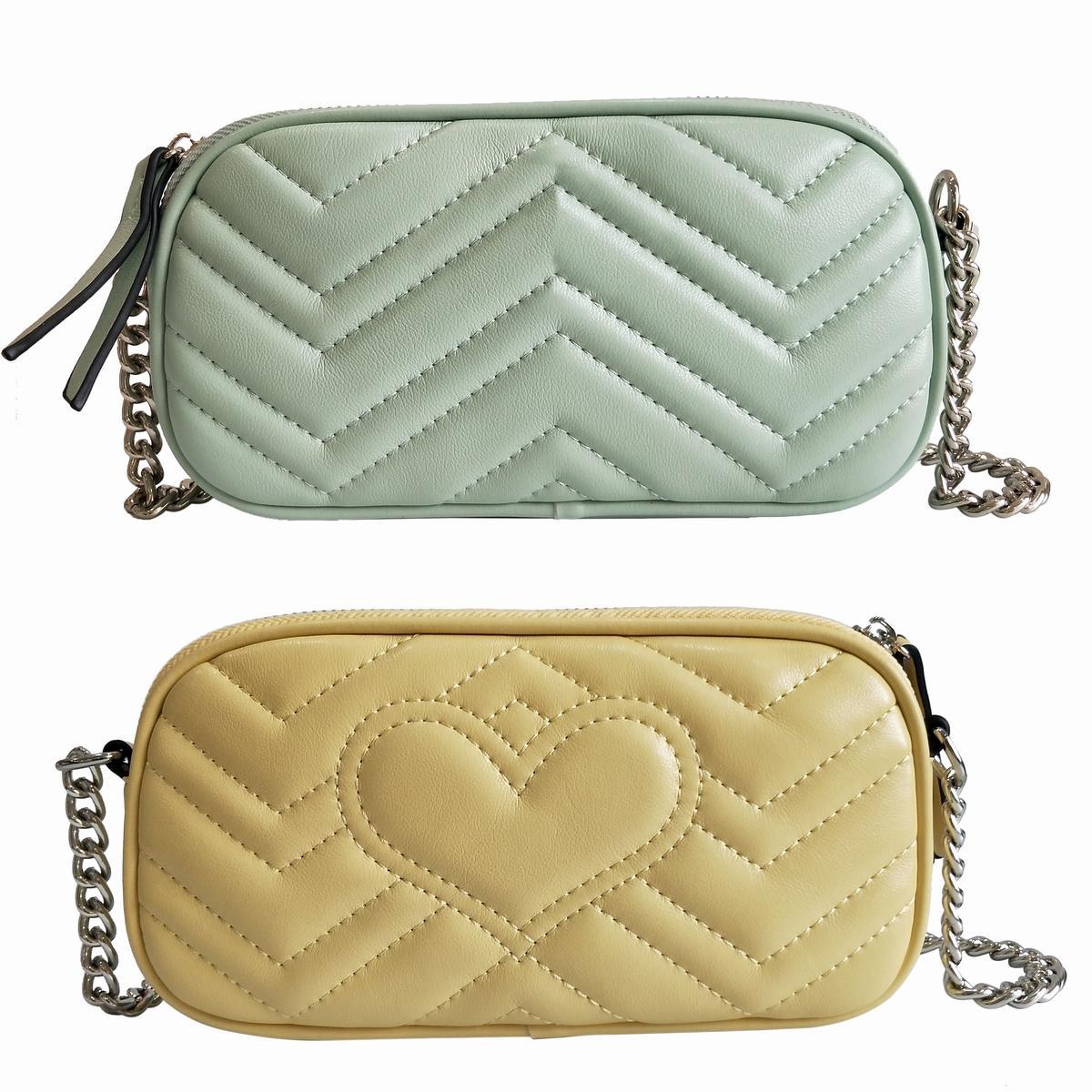 Qualitäts-Art-Frauen-Handtaschen Silber Kette MINI Schultertasche Umhängetasche Soho-Tasche Disco Messenger Bag Portemonnaie Farbe 10