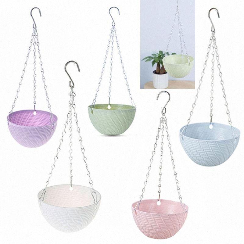 1 pcs cadeia do plástico de Compras Home Flower Pot Planter Hanging Decoração criativa Jardim das Plantas tbz5 #