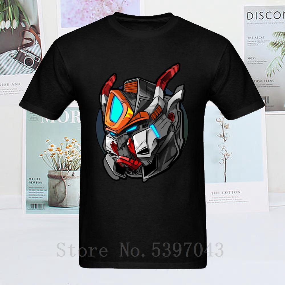 Élégant 2019 lourd T-shirt Cartoon Robot Homme Noir T-shirt métal machine d'impression numérique adulte T-shirt Drop Shipping