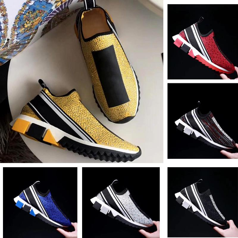 New classic casual shoes Man luxury Designer Leather crystal woman platform Fashion pcv Thick bottom Sports shoes