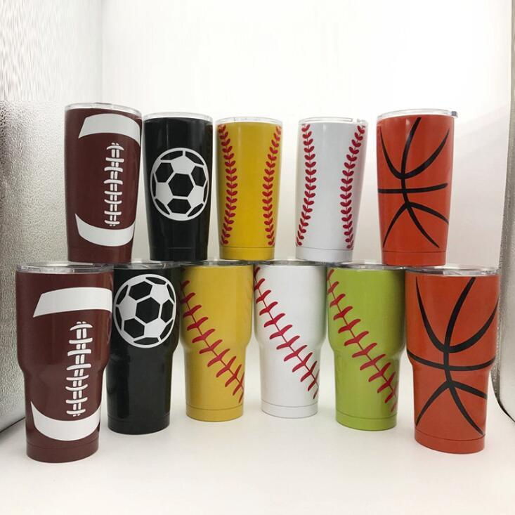 Aislamiento al vacío Copas de béisbol termos de acero inoxidable con aislamiento termo taza creativa béisbol taza del coche de doble capa CGY155-1
