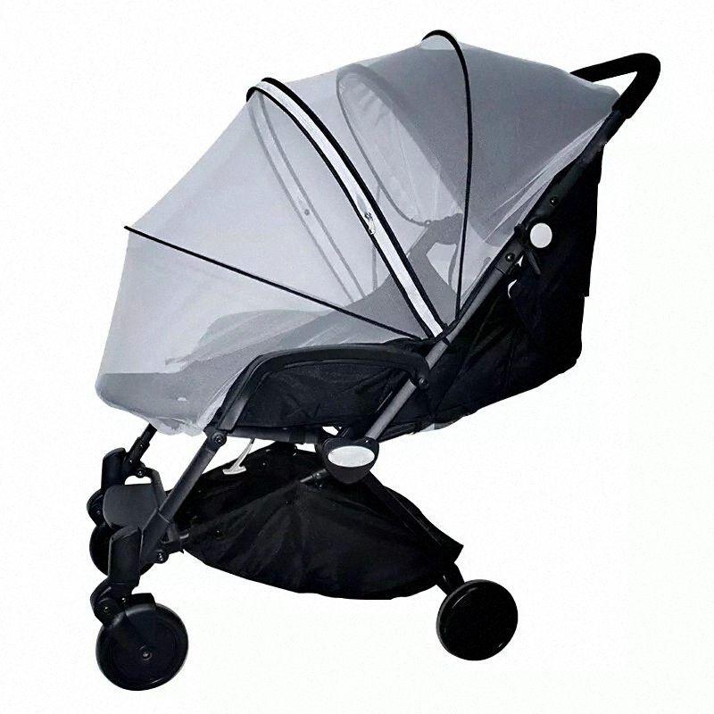 Baby Stroller Zipper Mosquito Insect Seguro rede de malha Crib Rede carrinho Net Carrinho de cobertura total compensação Stroller Acessórios 9R3H #