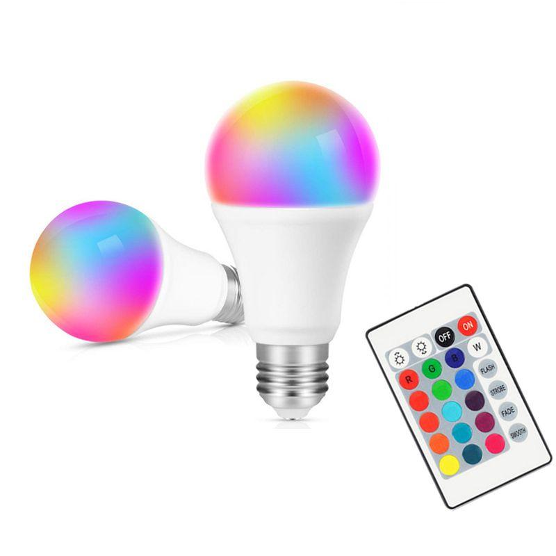 Crestech RGB LED ضوء لمبة AC85-265V إضاءة مصباح الإضاءة الذكية تغيير لون عكس الضوء مع ir البعيد تحكم 10W لمبة الذكية