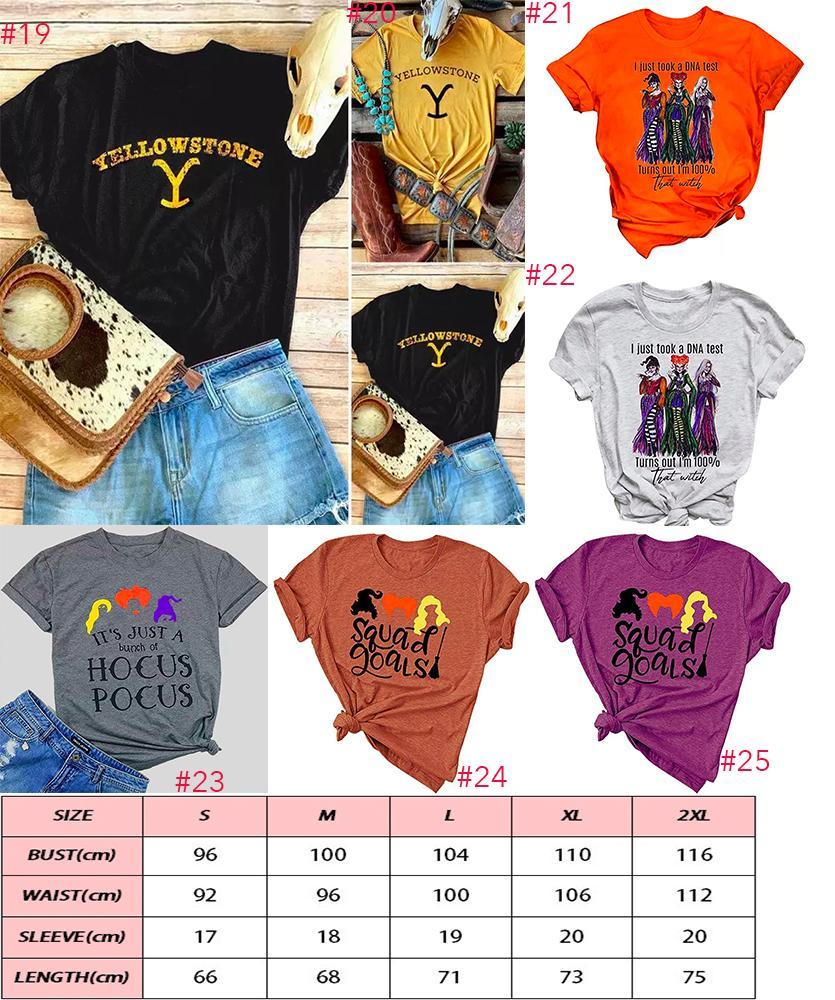 Donne stile cortocircuito parole halloween o-collo t-shirt camicie sciolte nuovo motivo manica modello donne strega halloween stampa moda causeal lnvpu