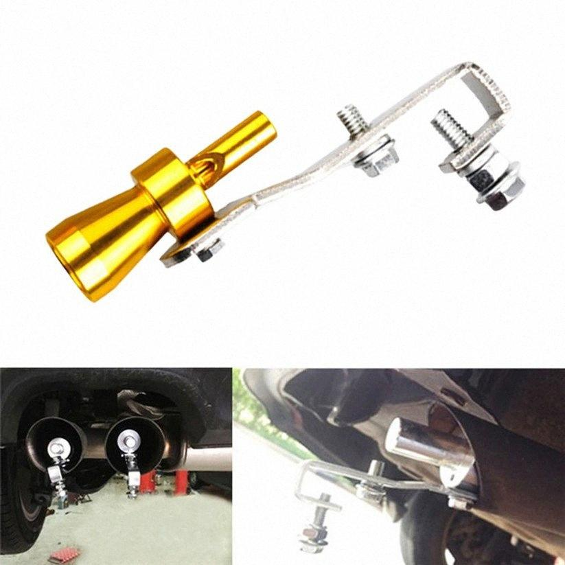 Car-styling CARPRIE Mufflers Car Silver Turbo BOV Sound Whistle Simulator Pipe Exhaust Muffler New td0817 dropship YASH#