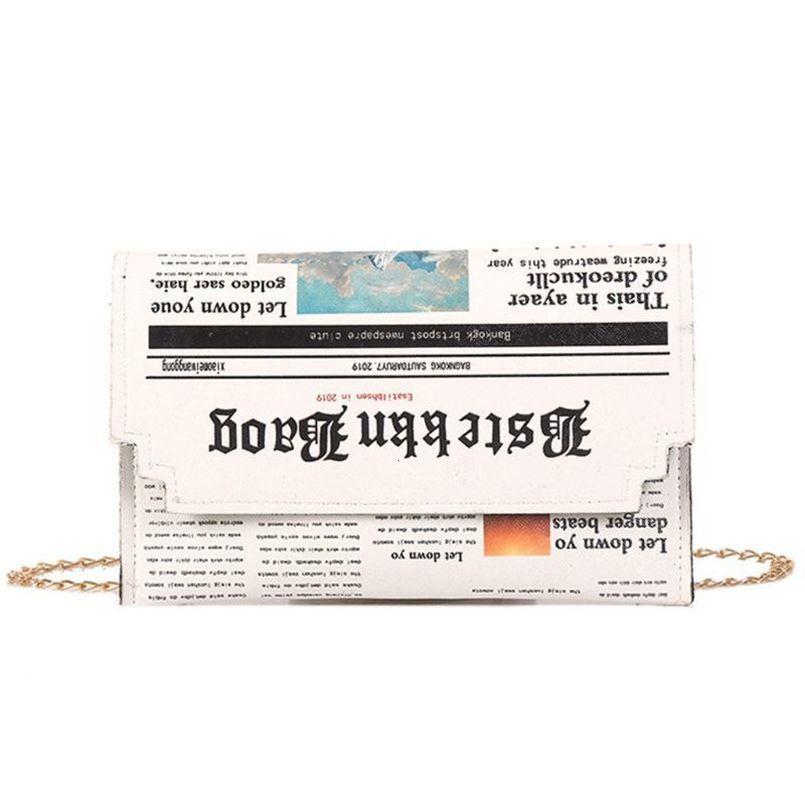 Fashion Women Newspape Pattern Shoulder Crossbody Bag Lady Casual Messenger Satchel Purse Travel Shopping Tote Handbag