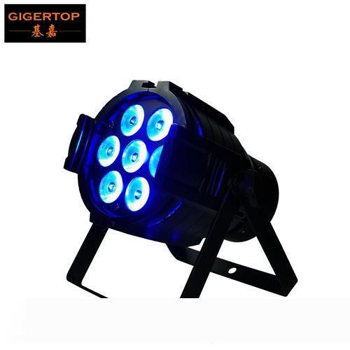 Freeshipping 7x12W RGBW Алюминиевый Led Par Light Бесшумный вентилятор охлаждения Mini Stage LED PAR 32 Проектор 3pin DMX IN Выход Разъем RGBW 4 цветосмесительное