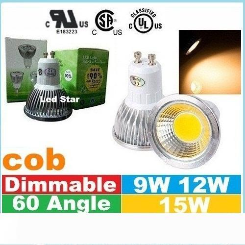 UL del CE SAA Dimmable E27 E14 GU10 MR16 llevó luces de bulbos de mazorca de 9W 12W 15W Led Spot lámpara de las bombillas de 12 V CA 110-240V