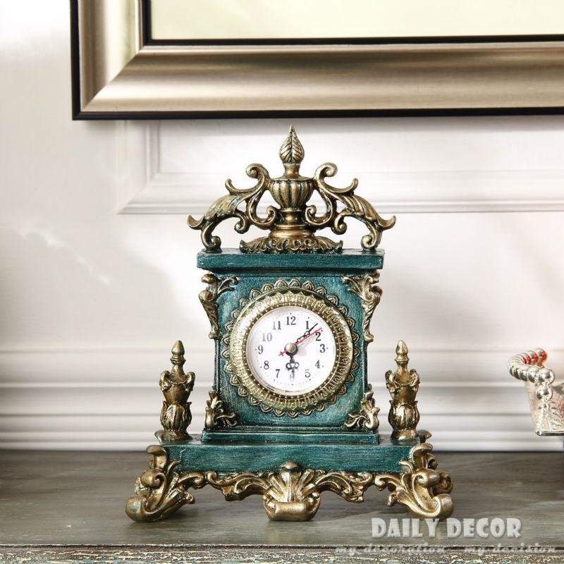 Vintage European American table clocks Decoration Bracket / desktop clock antique grandfather clock reloj de mesa free shipping