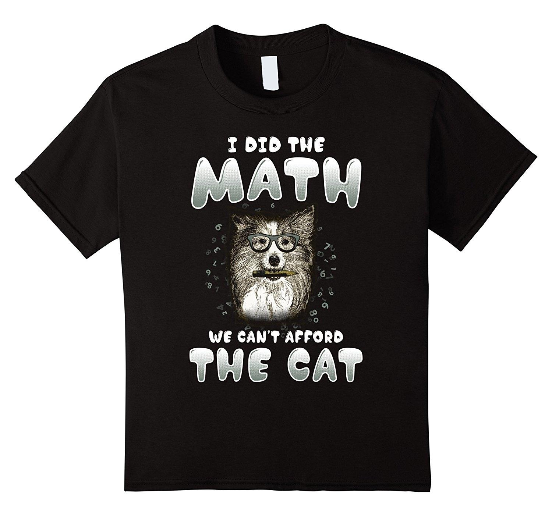 2020 Yeni Yaz Modası Erkekler Tee Gömlek Ben Matematik Biz Kedi Komik Köpek Tişört Günlük tişört göze alamaz mı
