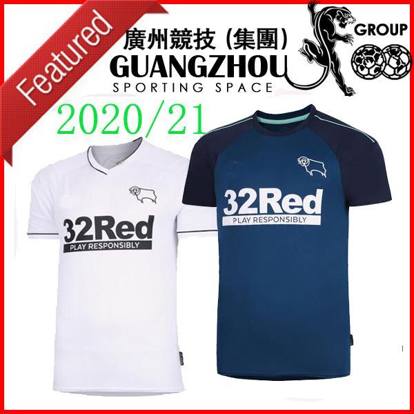 Rooney 32 20 21 camisetas de fútbol Derby County distancia 2020 INICIO Camisetas de Fútbol MARRIOTT LAWRENCE Waghorn kit Hombre + niños camisetas de fútbol
