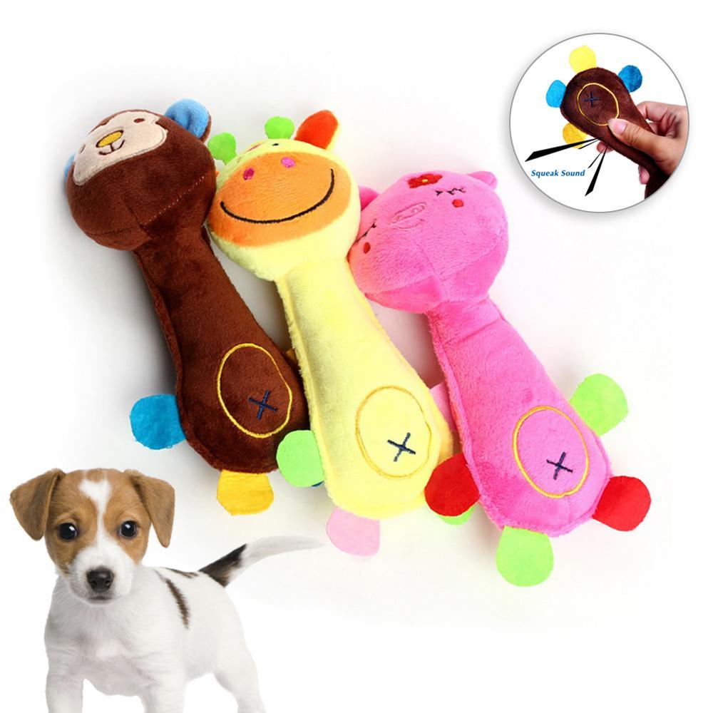 Cat Plush Chew Squeak Toy Para Pequeno Grande Dog Pet Dog Toy Pet Traning Suprimentos Cães Som Brinquedos Jogo dos cães Mastigar Brinquedos