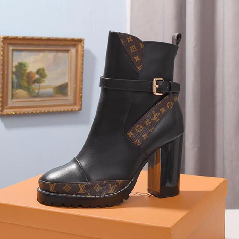 Nuove donne di modo stella stivali Trail Stivali Donna Chaussures De Femme di lusso con la scatola di lusso Zapatos De Mujer Lady Calzari consegna veloce